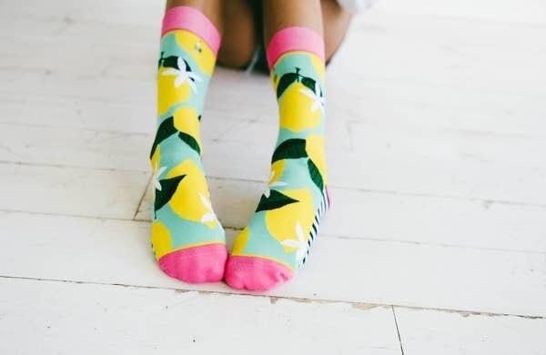 Pink Lemonade Crew Sock