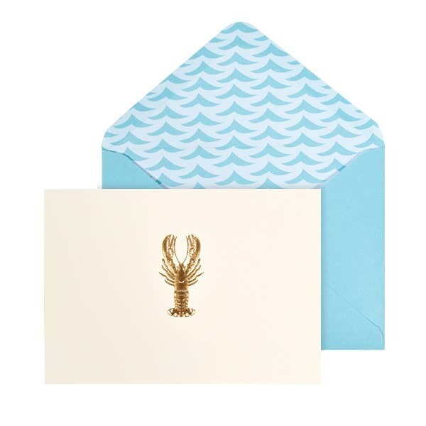Lobster Note Card Set