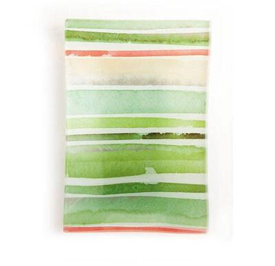 Green Glass Soap Dish
