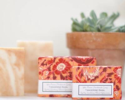 Tangerine Basil Handmade Soap 3.5oz