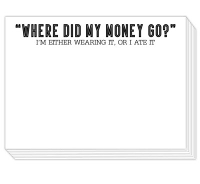 Where Did My Money Go Notepad