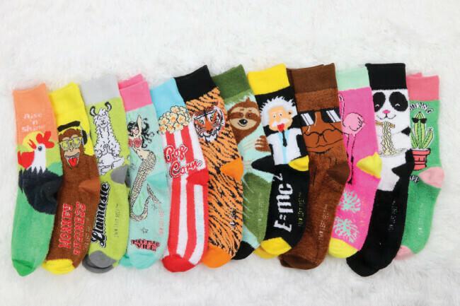 Two Left Feet Fuzzy Socks... Small