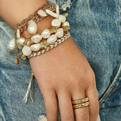 Pearl & Starfish Stretch Bracelet