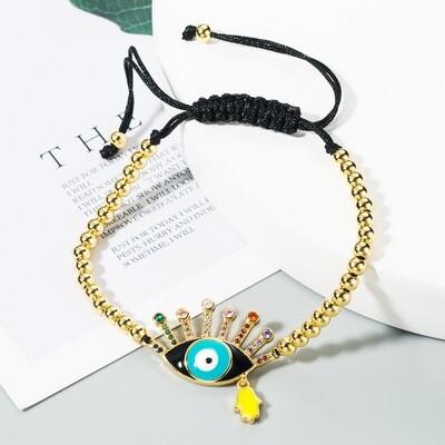 Good Karma Blue Eyed Bracelet.. adjustable