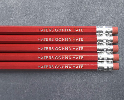 Huckleberry Letterpress - Haters Gonna Hate- Pencil Pack of 5