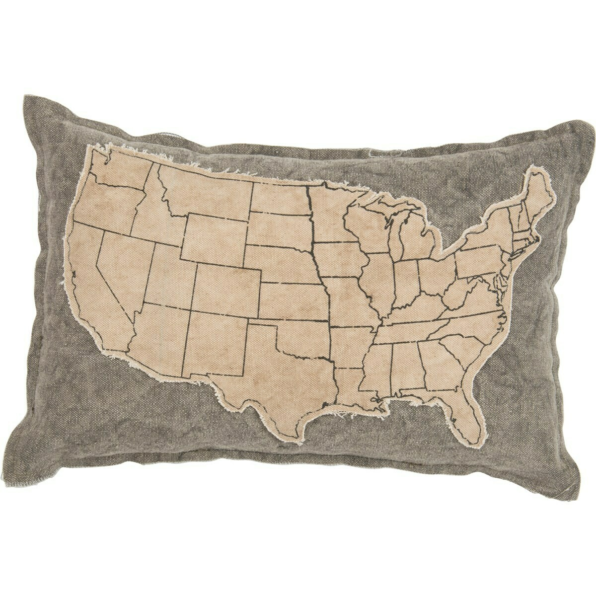 Canvas United States Pillow