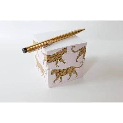 Leopard Sticky Note Cube