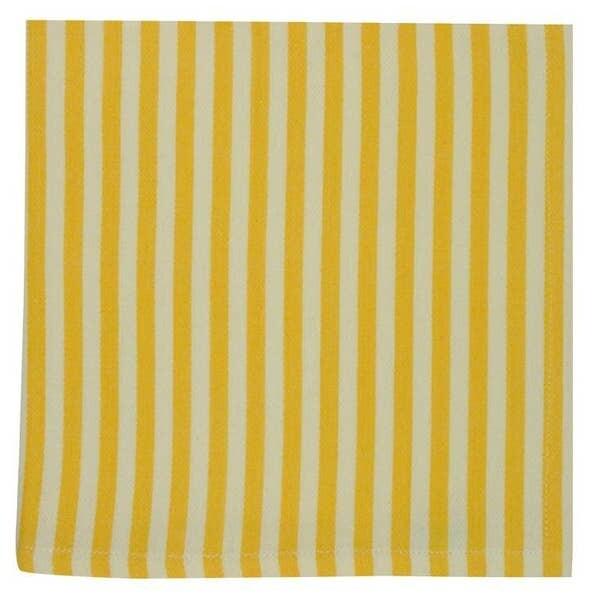 Canary Yellow Stripe Napkin 20x20