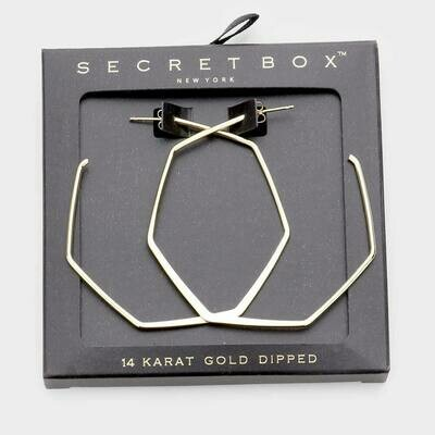 Geometric 14K Gold Dipped Earring