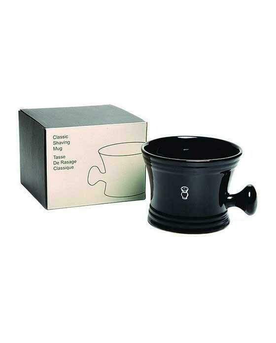 Apothecary Shaving Mug Black Porcelain