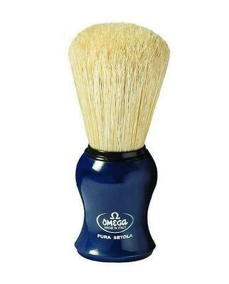 Omega Boar Bristle Shaving Brush, Blue