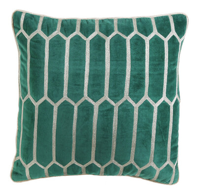 "Velvet Emerald Pillow 18""x18"""