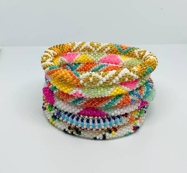Nepal Beaded Bracelet in Summer