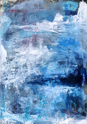 Deep Waters abstract painting