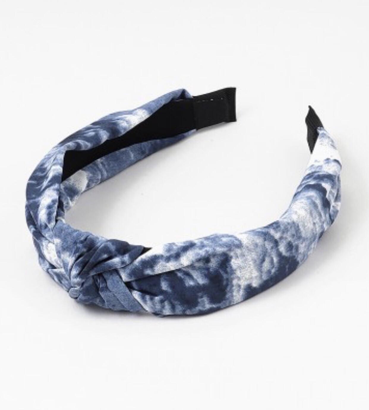 Blue Tie-Dye Headband