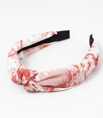 Red Tie-Dye Headband