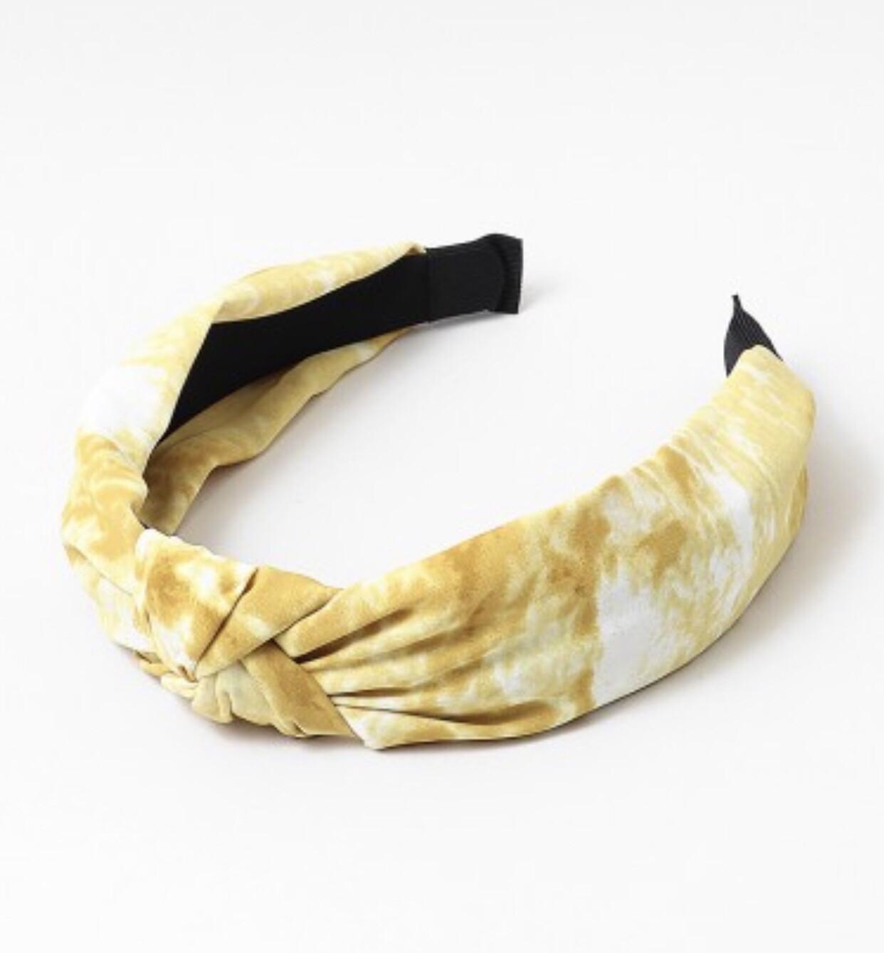Yellow Tie-Dye Headband