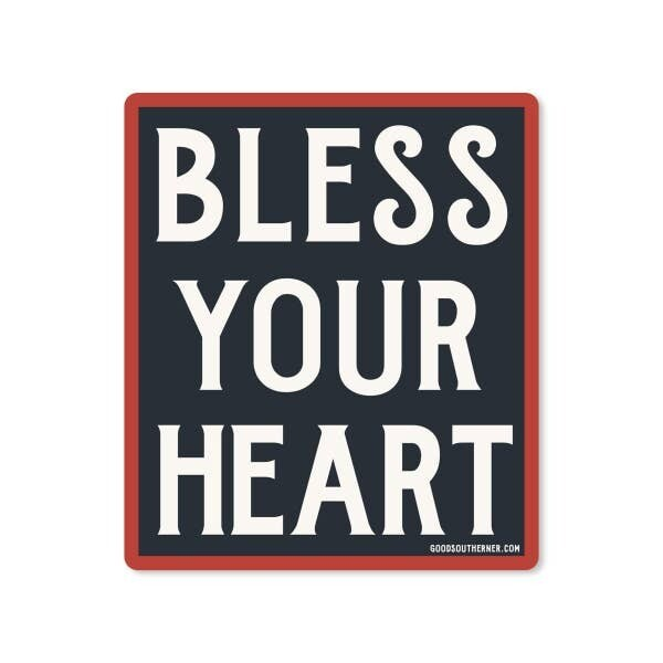 Bless Your Heart Vinyl Sticker