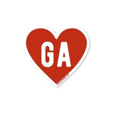 Georgia Heart Vinyl Sticker