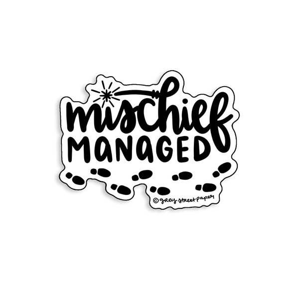 Mischief Managed Vinyl Sticker