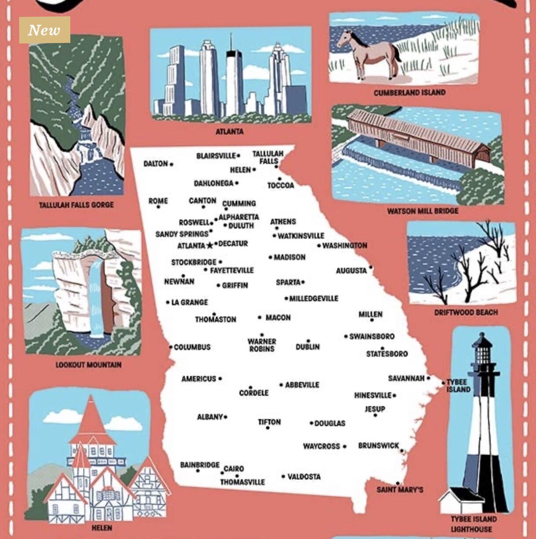 Georgia Icons Towel