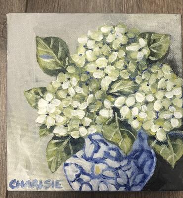 6x6 Hydrangeas by Charlsie Sprewell