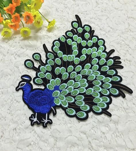 Embroidered Peacock Patch