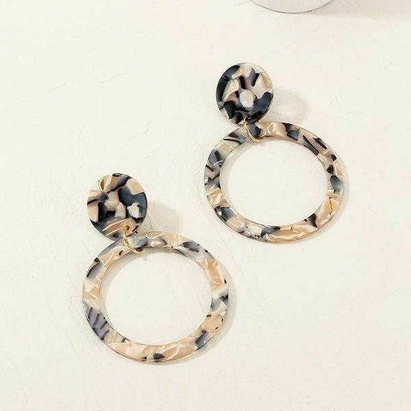 Geometric Acrylic Hoop Earrings