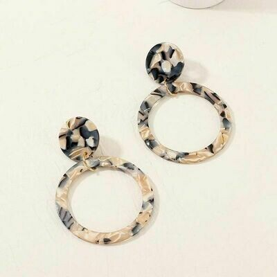 Geometric Acrylic Hoop Earrings