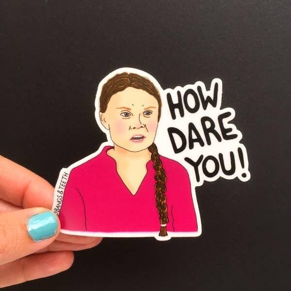 Greta Thunberg vinyl sticker