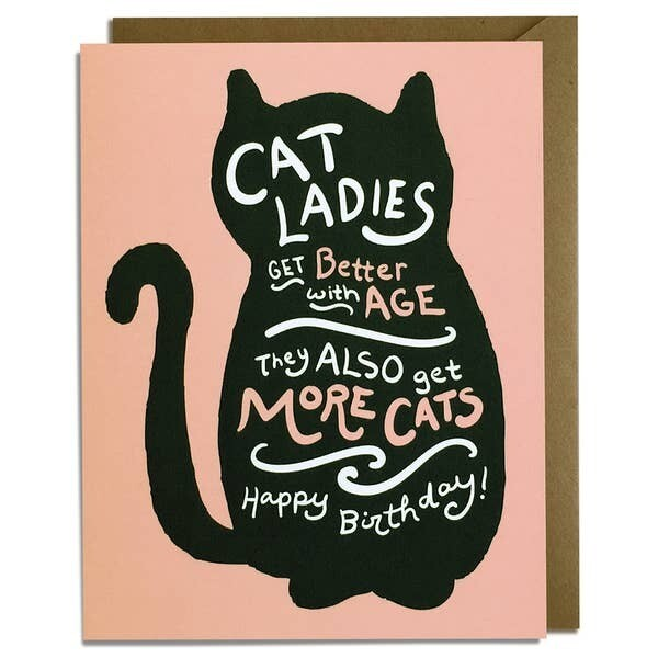 Cat Ladies Birthday Card