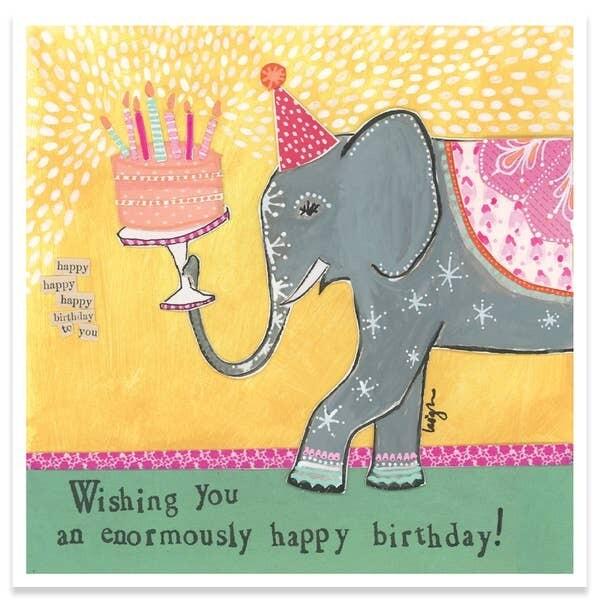 Enormously Happy Birthday Card