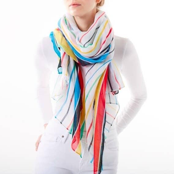Multi Color Stripes Scarf
