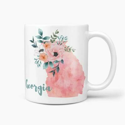Georgia Watercolor Mug