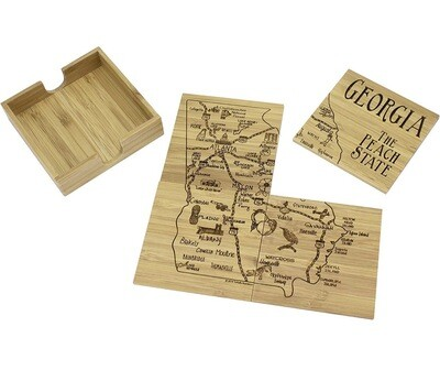 Georgia Puzzle 4pc Coaster Set