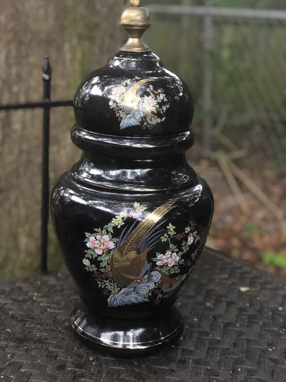 Black Ginger Jar From Portugal