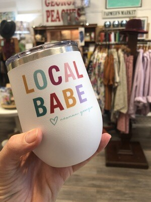 12oz Local Babe Wine Glass