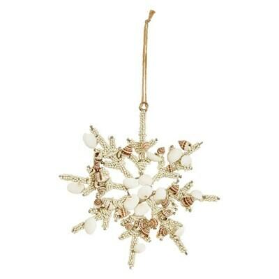 Glass & Shell Snowflake Ornament