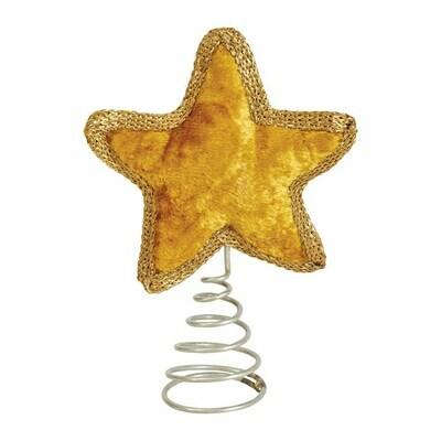Velvet Star Tree Topper