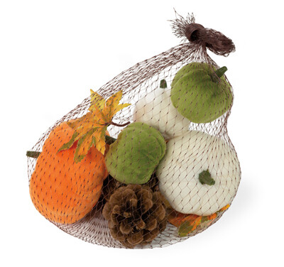 Felted Pumpkins in a Bag