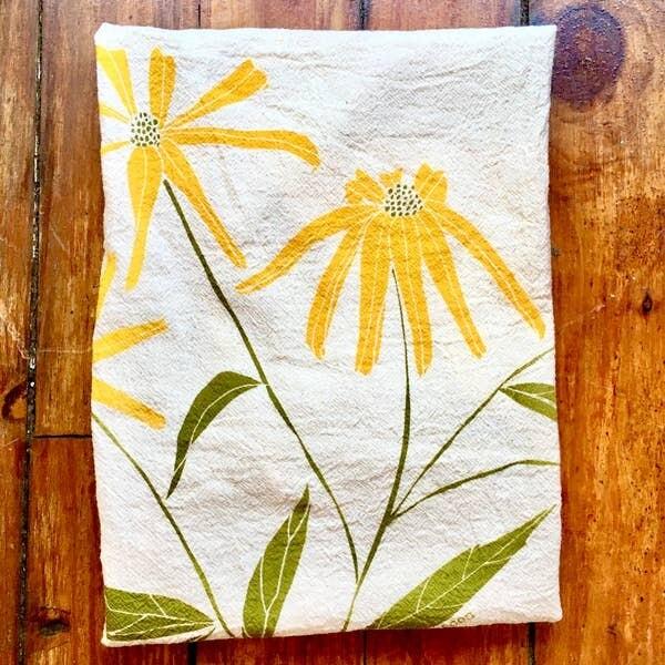 Black-eyed Susan Tea Towel