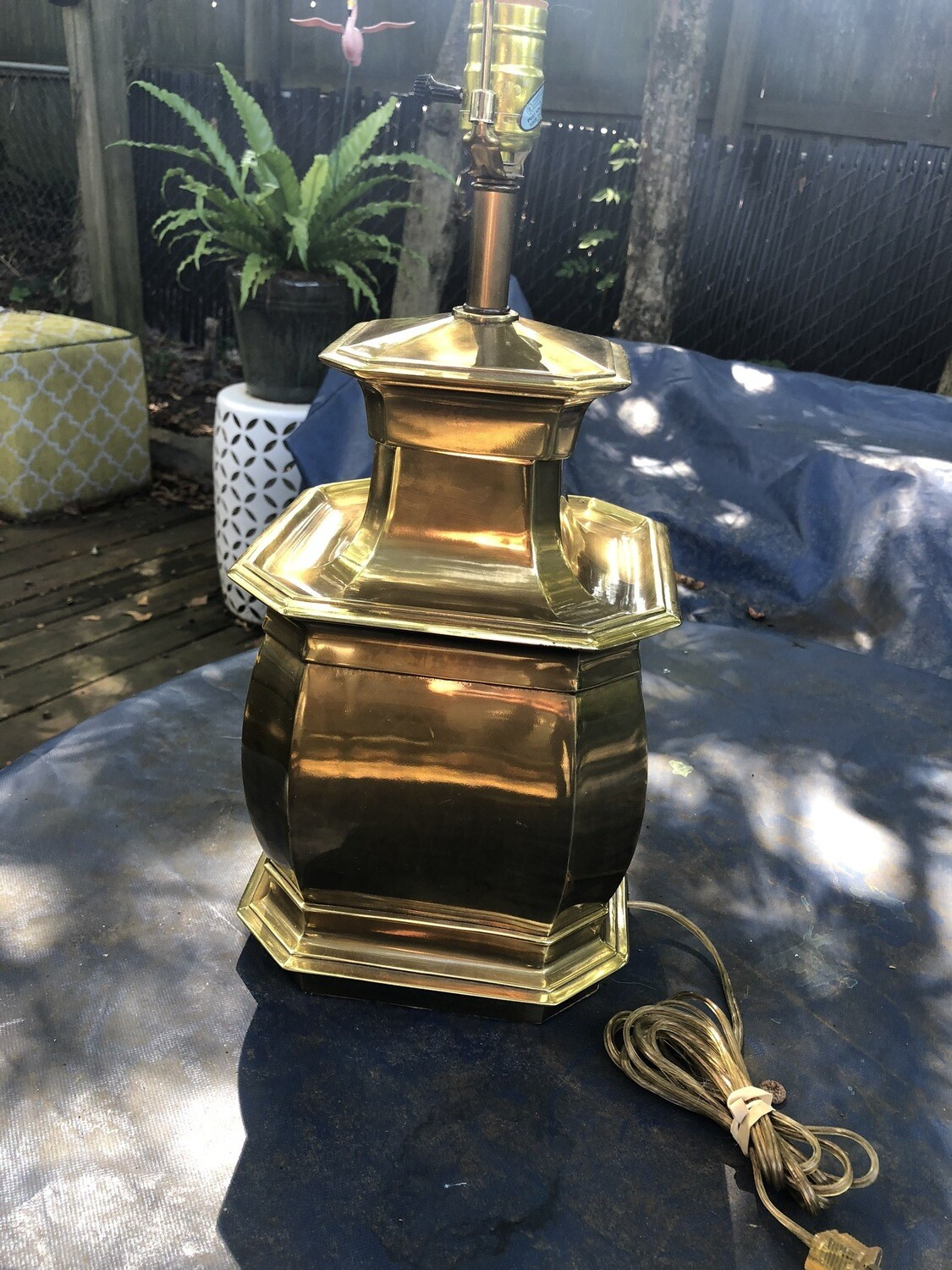 Square Brass Lamp