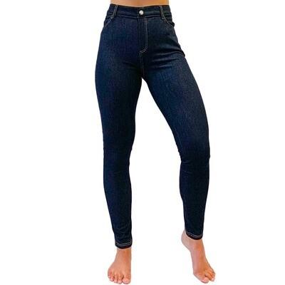 Navy Jean Jeggings aka Happy Pants