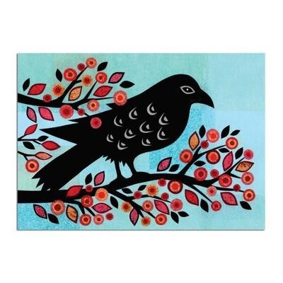 Raven Halloween Greeting Card