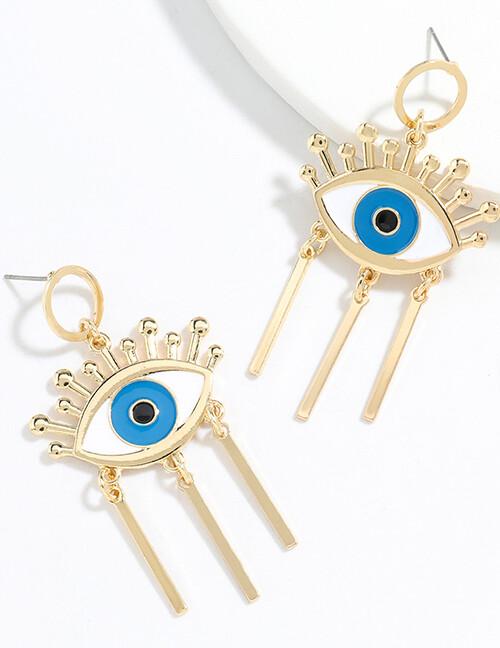 Eye Tassel Earrings