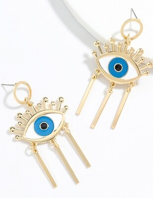 Eye Tassel Earrings