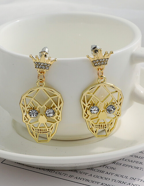 Gold Skull Earrings