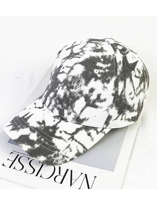 Tie Dye Baseball Hat White