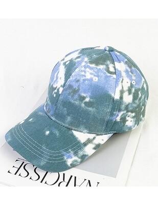 Tie Dye Baseball Hat Blue