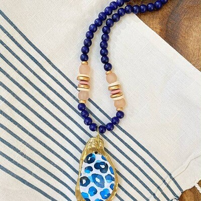 Bridgewater Printed Oyster Shell Necklace